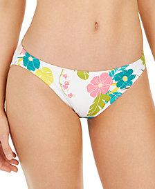 Kate Spade New York Floral-Print Classic Bikini Bottom