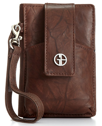 Giani Bernini Wallet, Sandalwood Leather Grab & Go Phone Case
