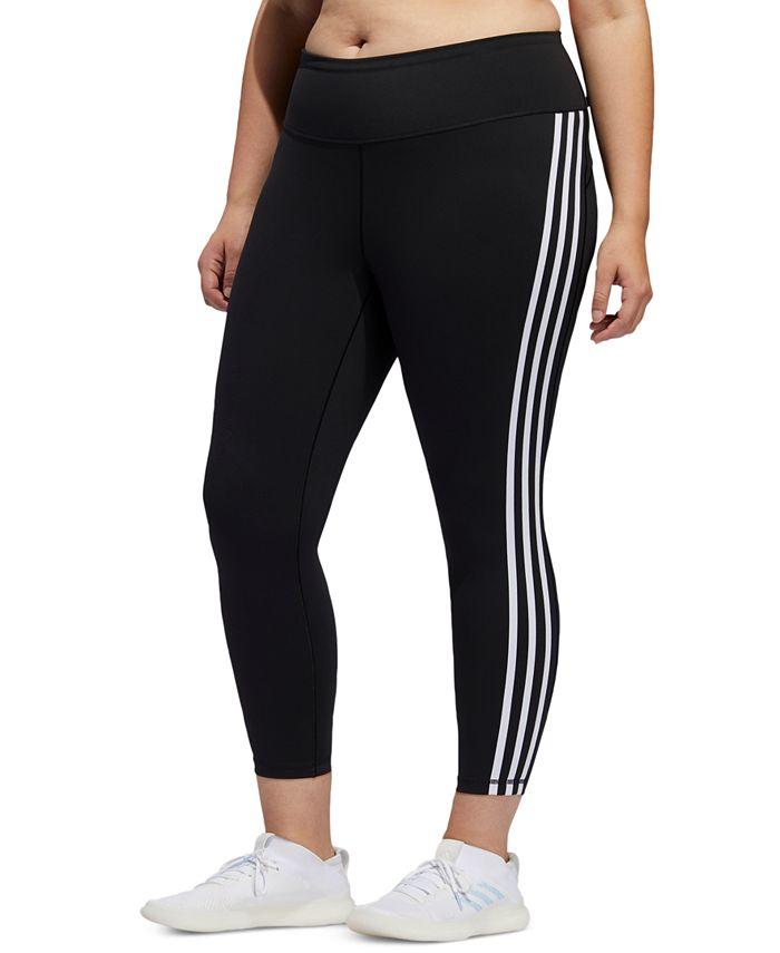 adidas - Plus Size Three-Stripe 7/8 Tights