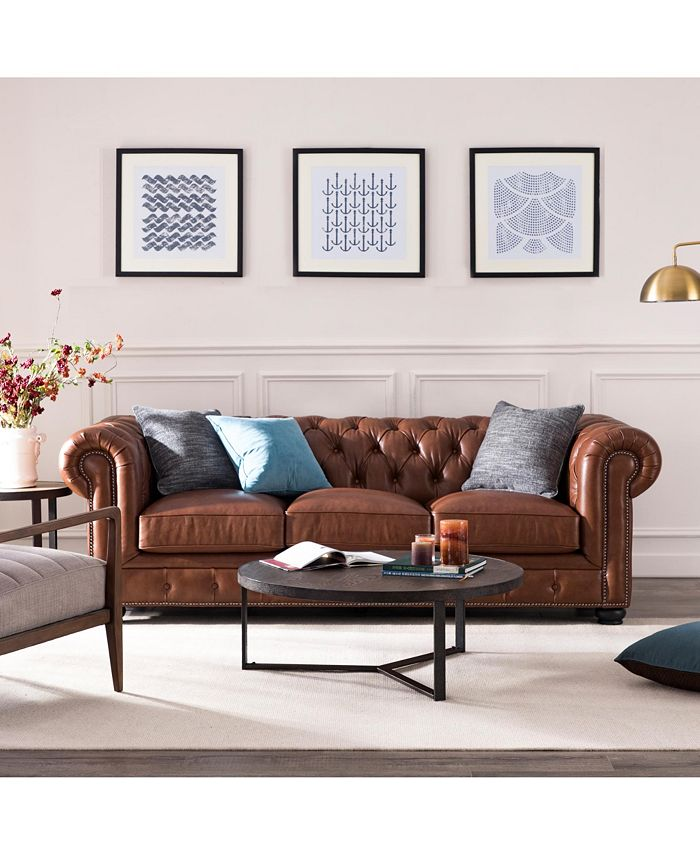 Nice Link - Alexandon Leather Chesterfield Sofa