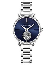Stuhrling Women's Silver Tone Stainless Steel Bracelet Watch 38mm