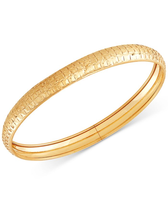 Macy's Prism-Cut Flex Bangle Bracelet in 10k Gold & Reviews - Bracelets - Jewelry & Watches - Macy's