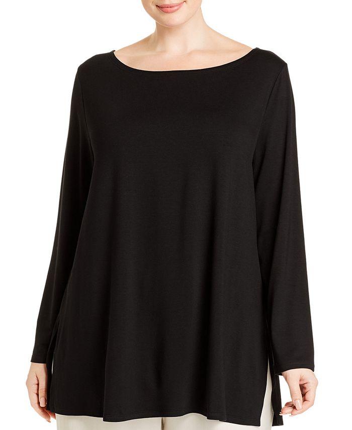 Eileen Fisher - Plus Size Bateau-Neck Tunic