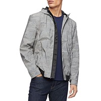 Calvin Klein Men's Reflective Camouflage Hooded Jacket