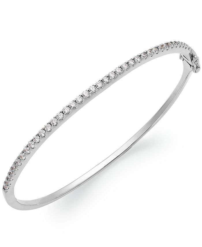 Arabella - Sterling Silver Swarovski Cubic Zirconia Bangle Bracelet (1-3/4 ct. t.w.) (Also available in 14k Gold over Sterling Silver)