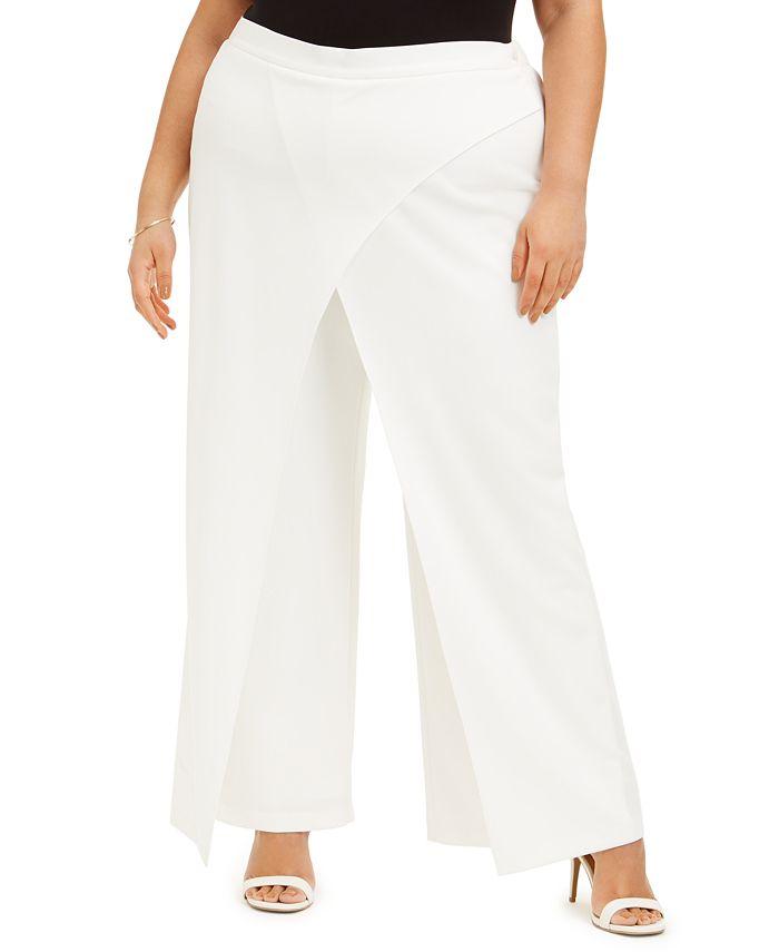 Adrianna Papell - Plus Size Draped Dress Pants