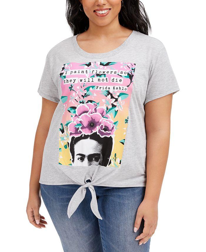 Love Tribe - Trendy Plus Size Frida Stamp T-Shirt