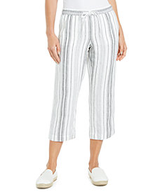 Charter Club Striped Capri Pants, Created for Macy's