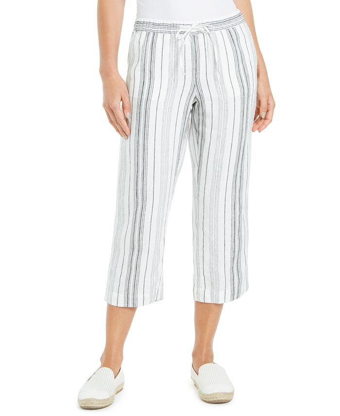 Charter Club - Striped Pants, Created for Macy's