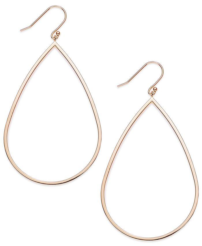Macy's - 14k Rose Gold Vermeil Earrings, Teardrop Dangle Earrings