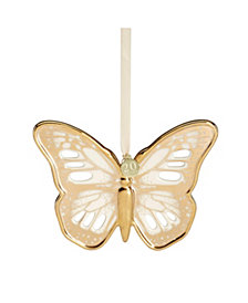 Lenox Butterfly Meadow Gold - 20th Anniversary Golden Butterfly Ornament,  Macy's Exclusive