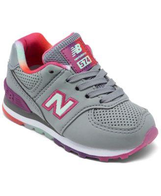 New Balance Toddler Girls 574 Rainbow