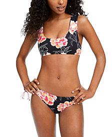 Roxy Juniors' Floral-Print Bikini Top & Bottoms