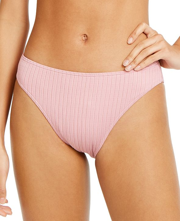 Roxy Juniors' Stay Golden Solid Textured Bikini Bottoms