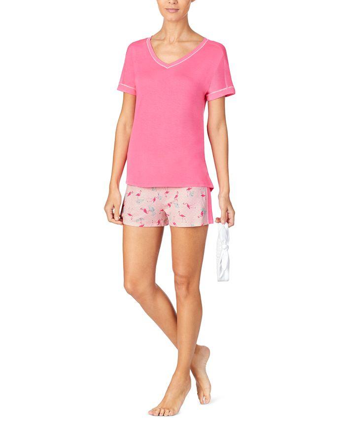 Cuddl Duds - T-Shirt & Printed Boxer Shorts Pajama Set