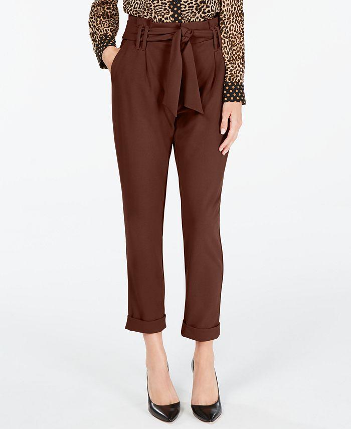 INC International Concepts - Tapered-Leg Paperbag Pants