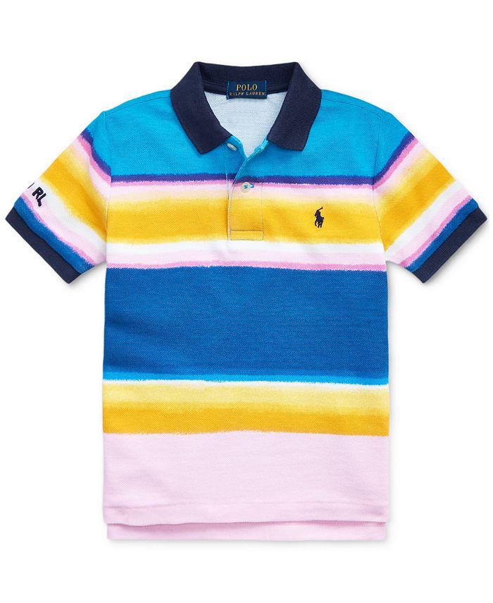 Polo Ralph Lauren Toddler Boys Striped Cotton Mesh Polo Shirt ...