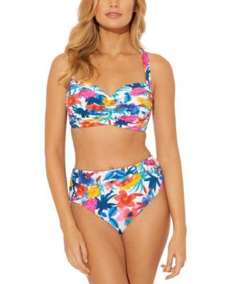 Printed Underwire D/DD-Cup Bikini Top