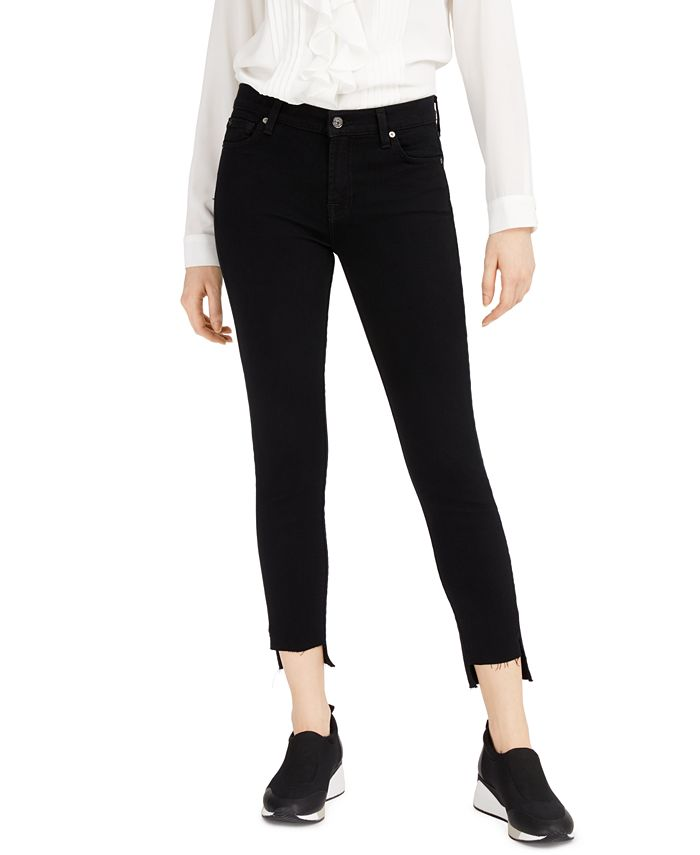 7 For All Mankind - Step-Hem Skinny Ankle Jeans