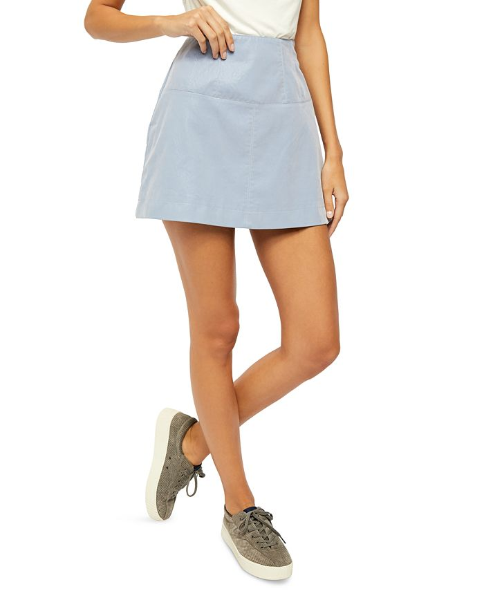 Free People - Days In The Sun Faux-Suede Mini Skirt
