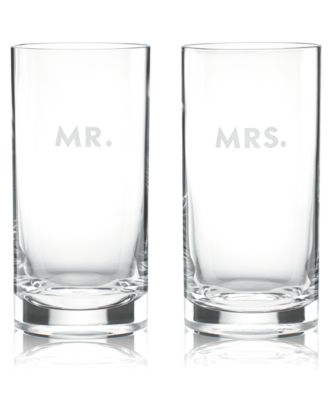 kate spade new york Set of 2 Darling Point Highball Glasses