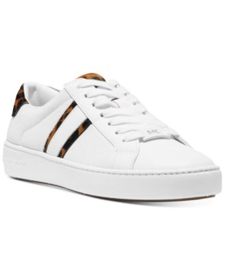 michael kors irving stripe lace up sneakers
