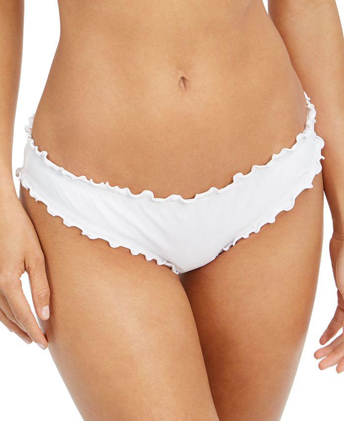 SUNDAZED - Ruffled-Edge Bikini Bottoms