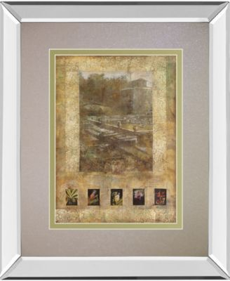 Botany Journal I by Kemp Mirror Framed Print Wall Art, 34