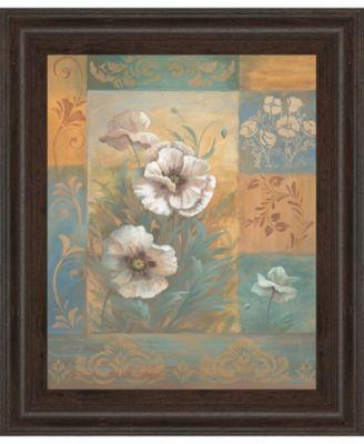 Pam's Poppies Il by Vivian Flasch Framed Print Wall Art - 22
