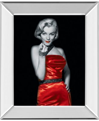 Lady in Red 2 by Chelsea Collection Mirror Framed Print Wall Art, 22