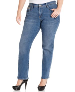 Levi's Plus Size 512 Perfectly Shaping Straight-Leg Jeans, Western Light Wash
