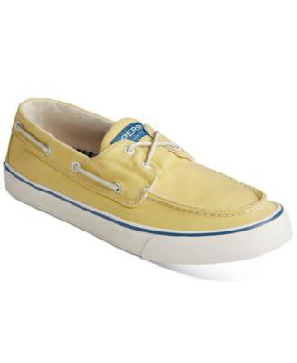 sperry men's canvas boat shoes