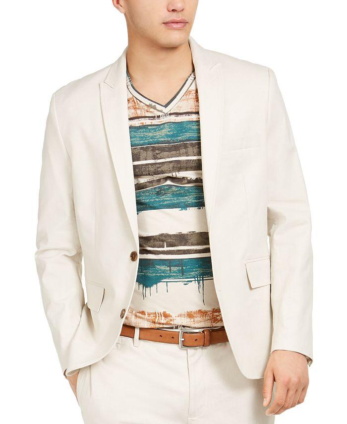 INC International Concepts - Men's Slim-Fit Linen Jasper Blazer