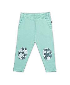 Pureheart Organics Baby Boys and Girls Snow Bear Mint Patch Trouser