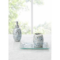 3-Pieces Decor Studio Lily Mosaic Bath Accessory Set