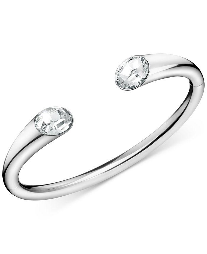 Calvin Klein - Crystal Cuff Bracelet in Stainless Steel