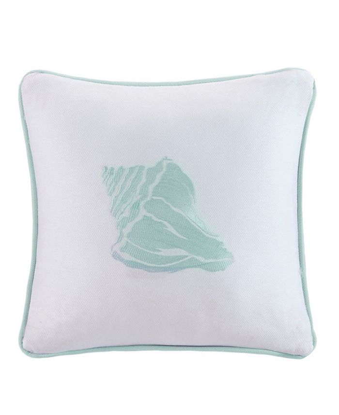 "Harbor House - Coastline Embroidered 16"" Square Decorative Pillow"