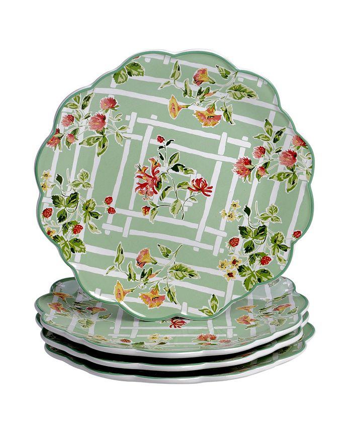 Certified International - English Garden 4-Pc. Dinner Plates