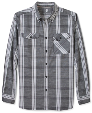 Rocawear Shirt Long Sleeve Coolin Plaid Shirt