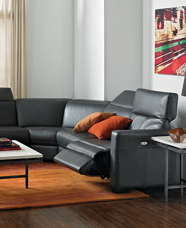 Nicolo Leather Sectional Living Room Furniture Sets
