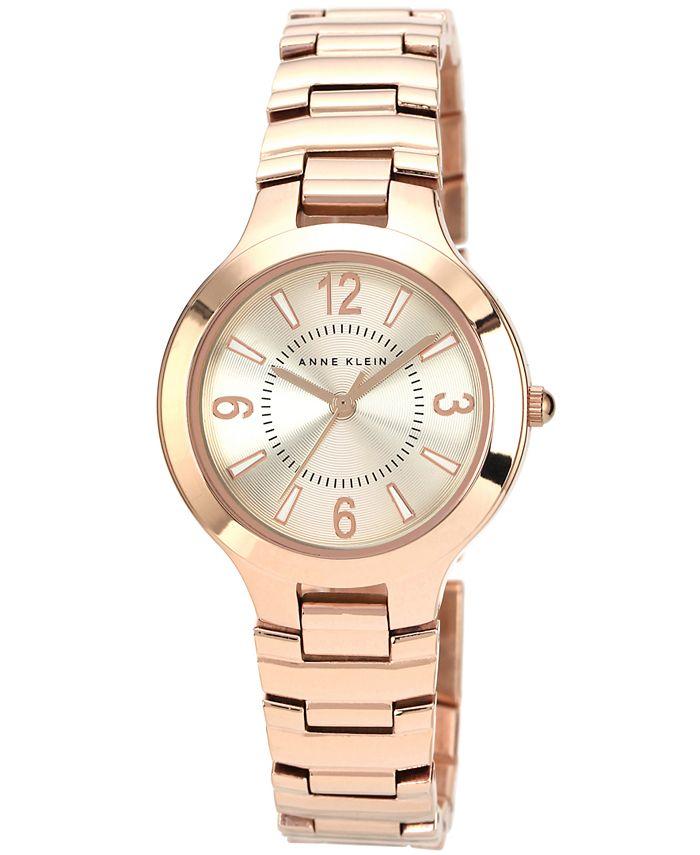 Anne Klein - Watch, Women's Rose Gold-Tone Bracelet 32mm AK-1450RGRG