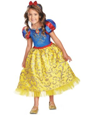 Image of Disney Kids Costume, Girls or Little Girls Snow White Sparkle Deluxe Costume