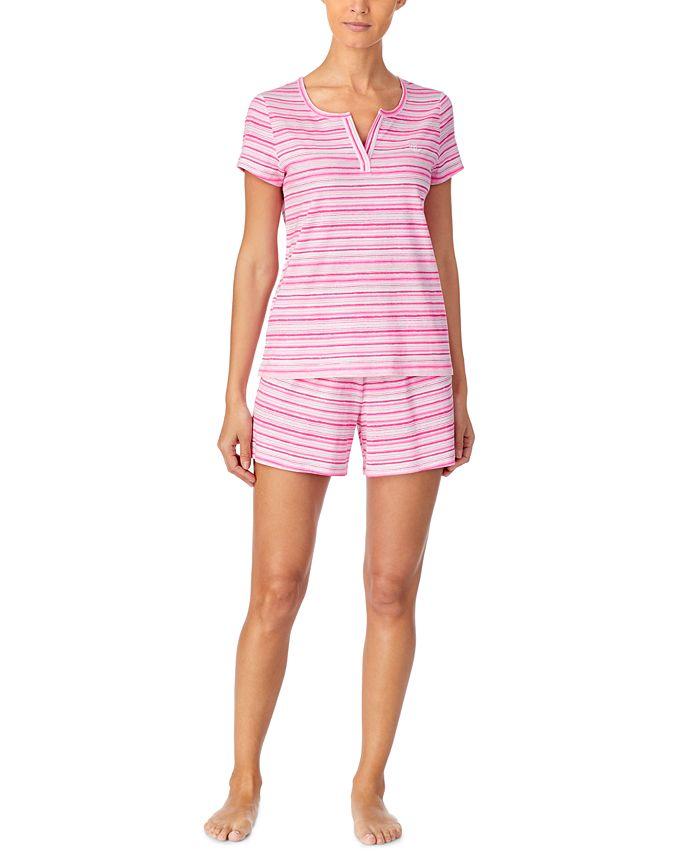 Lauren Ralph Lauren - Printed Cotton Boxer Shorts Pajamas Set
