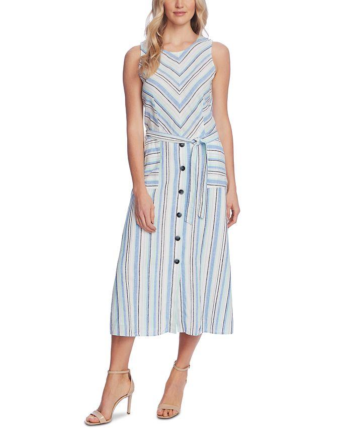 Vince Camuto - Wistful Stripe A-Line Dress