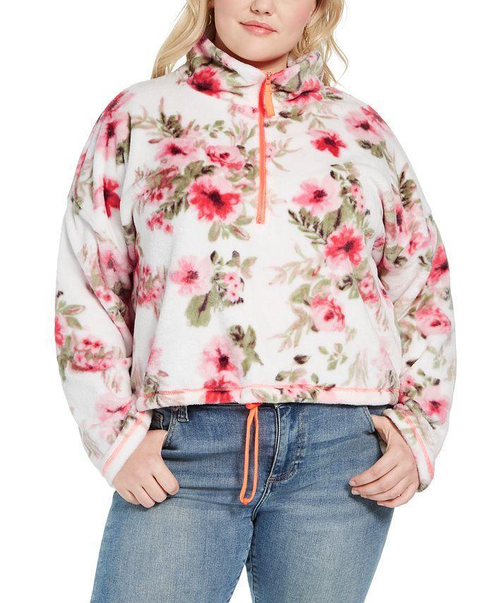 FULL CIRCLE TRENDS - Trendy Plus Size Bungee-Hem Sweater