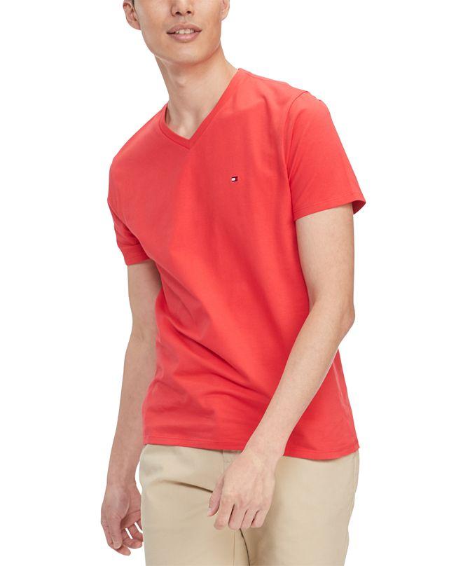 Tommy Hilfiger Men's Performance Stretch Solid V-Neck T-Shirt