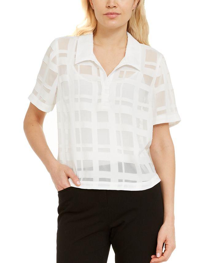 Alfani - Grid-Print Shirt