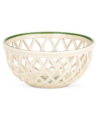Lenox Holiday Open Weave Basket