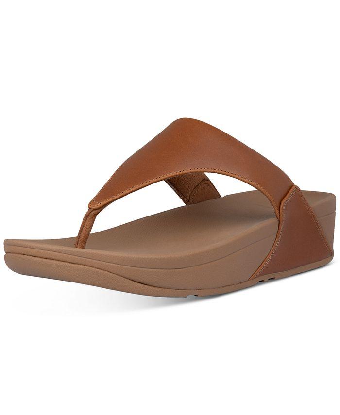 FitFlop - Lulu Leather Toepost Flip-Flop Sandals