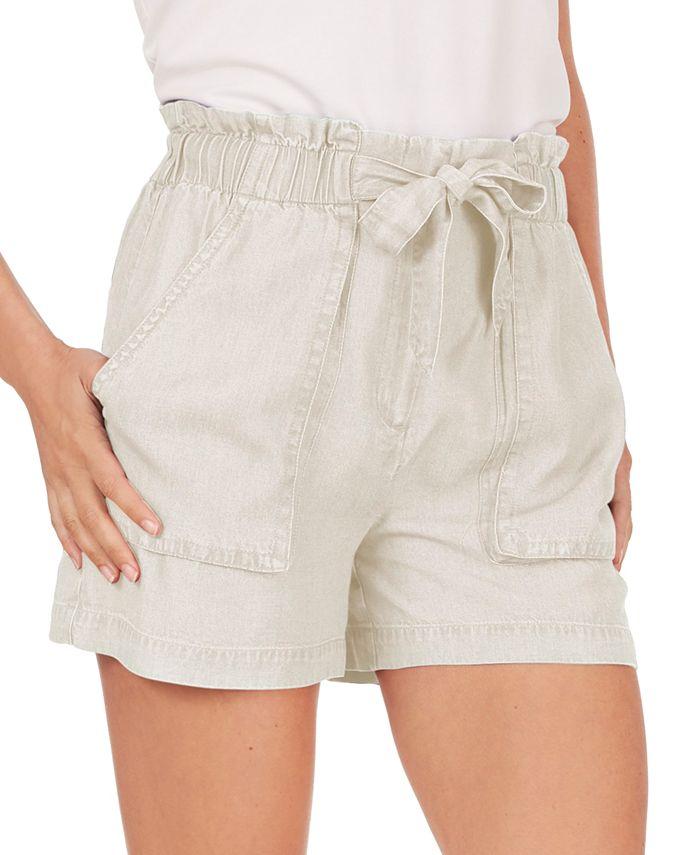 Adyson Parker - Tie-Waist Paperbag Shorts